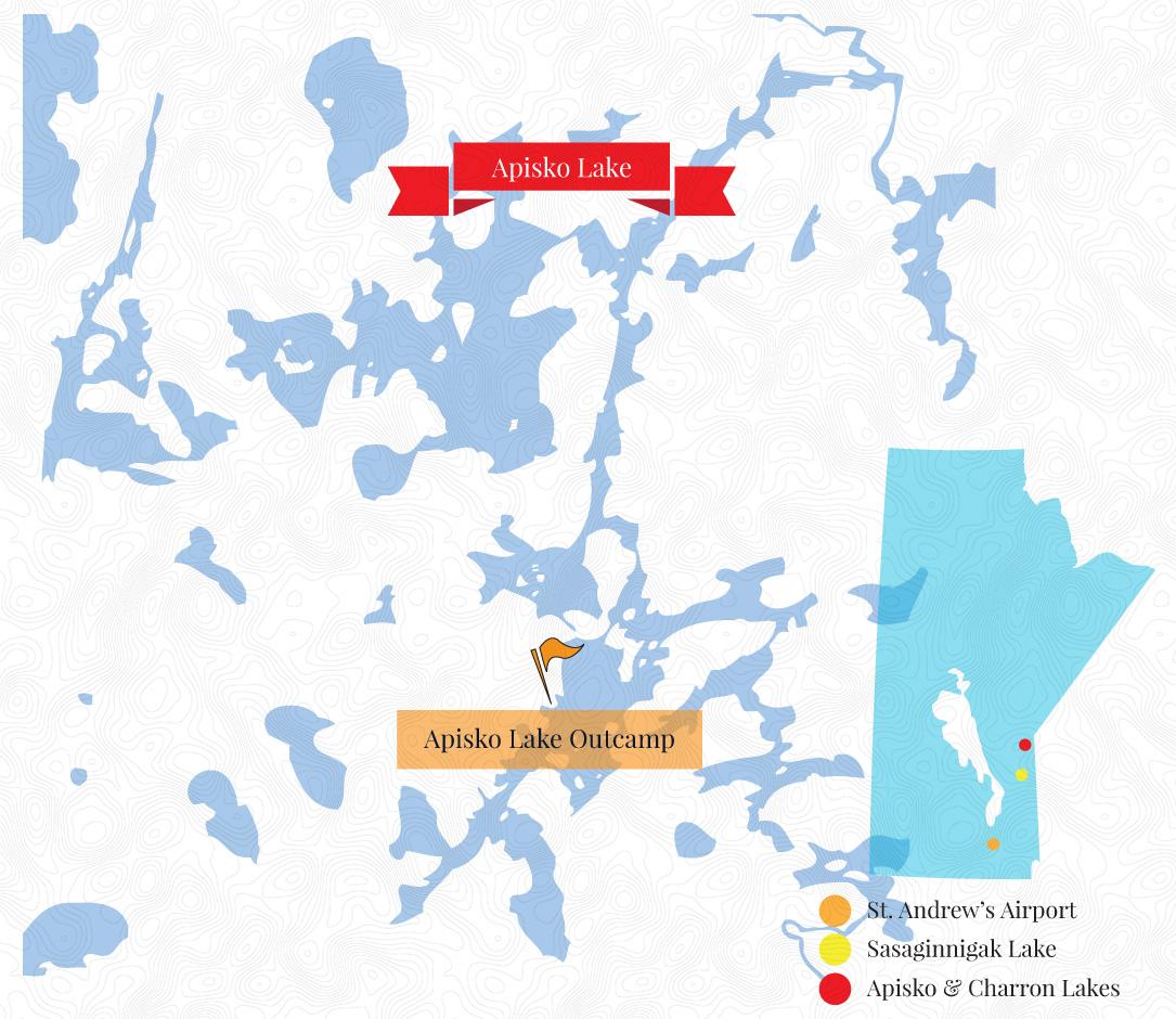 Apisko Lake Outcamp Map