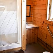 Apisko Lake cabin bathroom