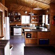 Apisko Lake cabin kitchen