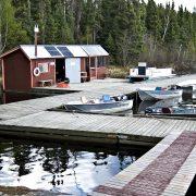 Charron Lake cabin boathouse
