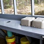 Charron Lake cabin cleaning station