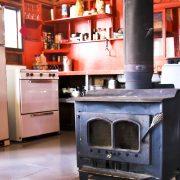 Charron Lake cabin kitchen