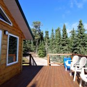 Tamarack Ridge Cabin front deck