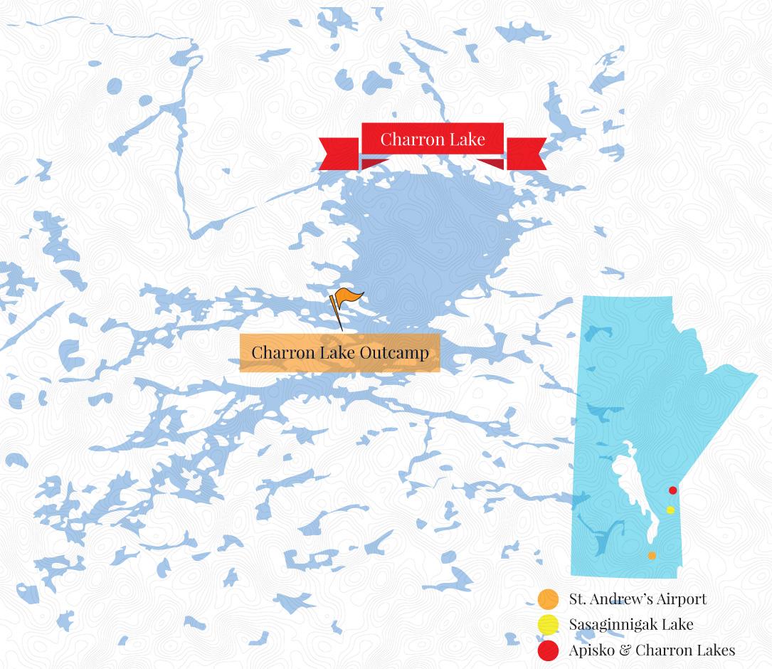 Charron Lake Outcamp Map