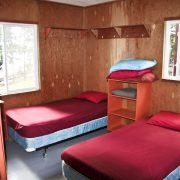 Charron Lake cabin bedroom