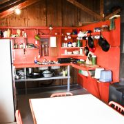 Charron Lake cabin kitchen
